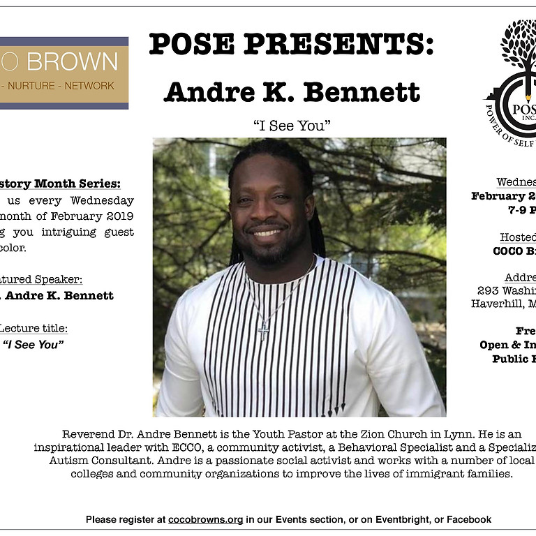 Black History Month 2019 Lecture Series - Andre K. Bennett