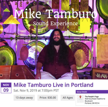 Sound Experience with Mike Tamburo