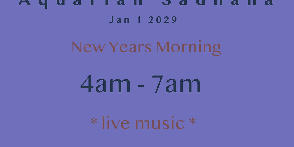 New Years Aquarian Sadhana