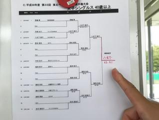 東北ベテランテニス選手権大会 優勝!