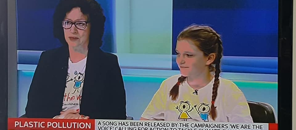 We Are the Voice with Niamh and Ellie at Sky News