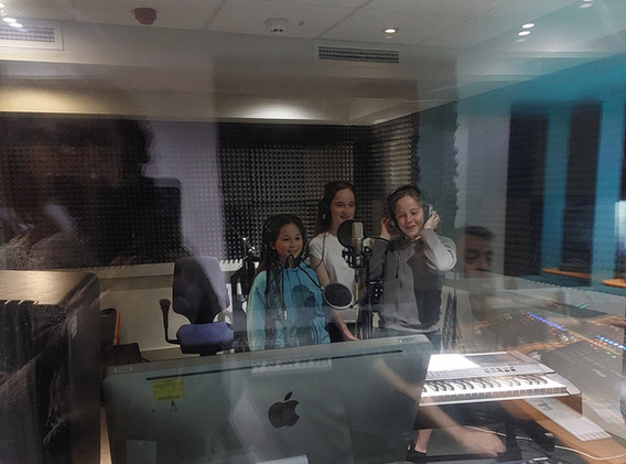 We Are the Voice at the recording studio
