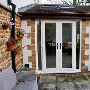 Patio doors, exterior extension