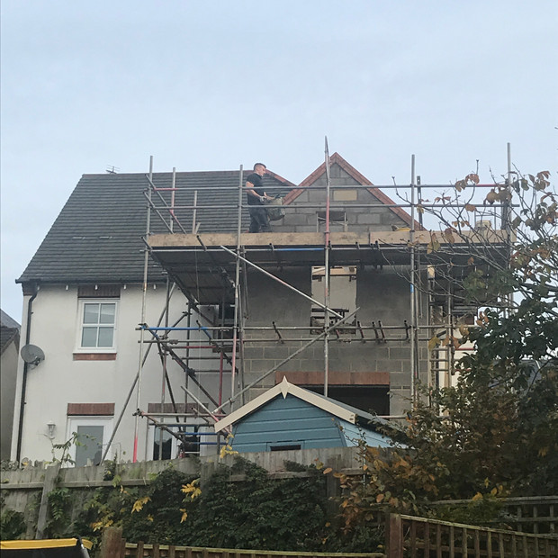 Scaffolding extension Braunston