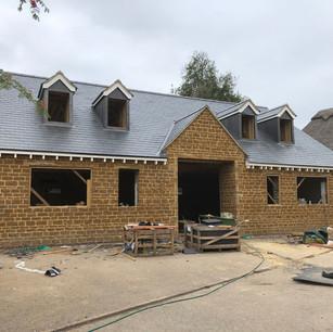 Construction in progress, Preston Capes, Daventry