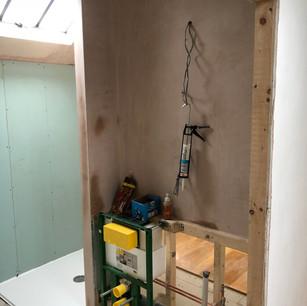 Bathroom project in progress.