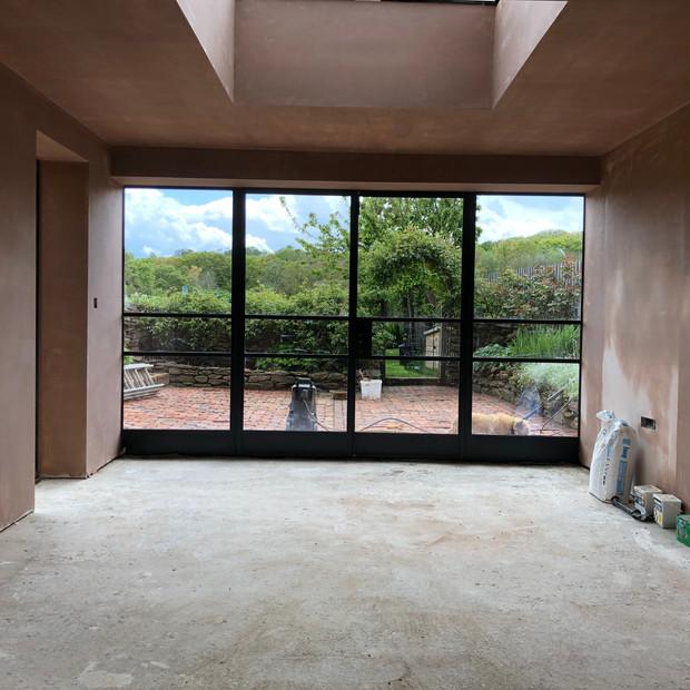 Interior extension in progress