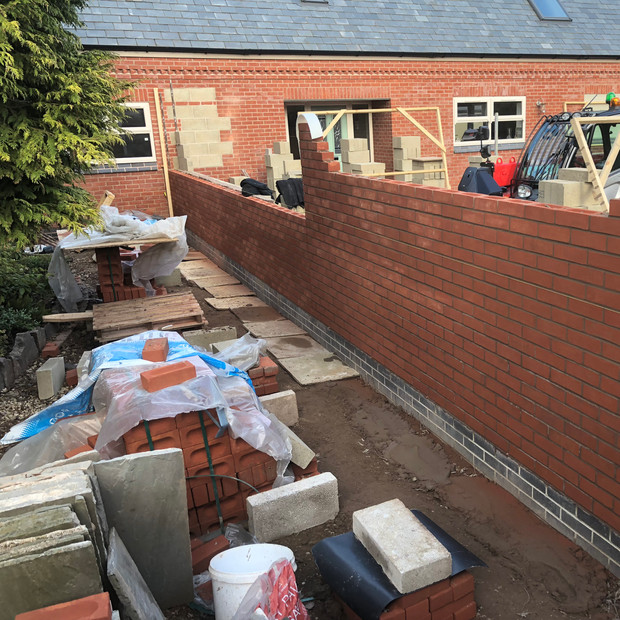 Building walls in Bagworth