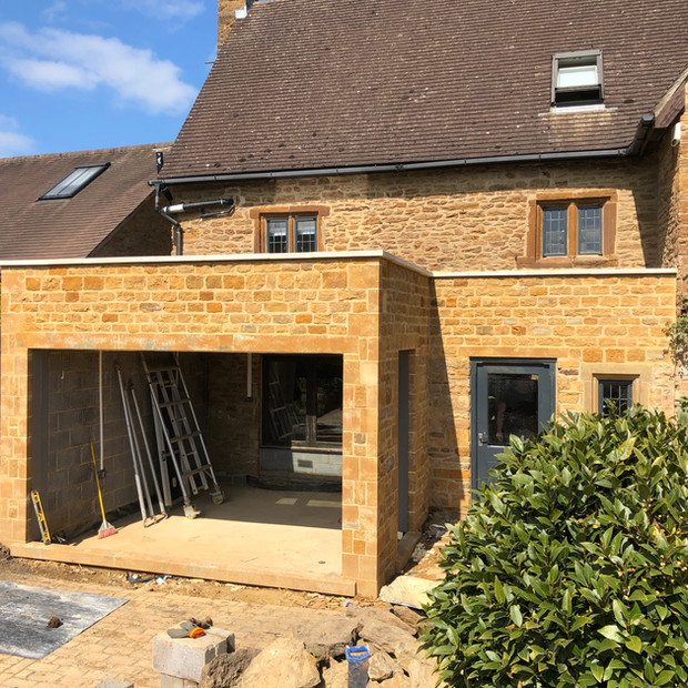 Listed building extension in progress