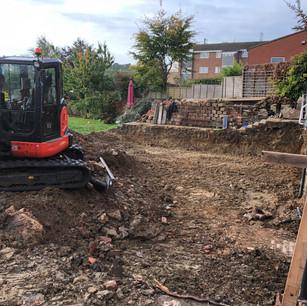 Digging in progress, Badby Road