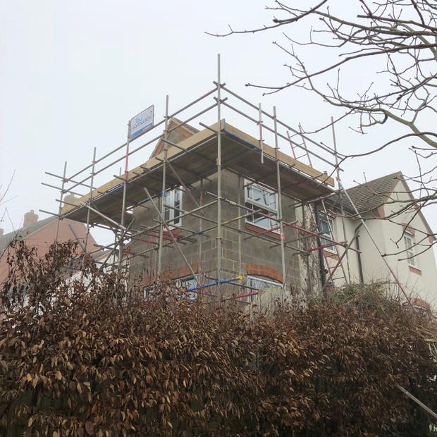 Scaffolding, building, construction, Braunston