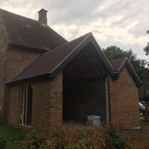 Hellidon property extension in progress.
