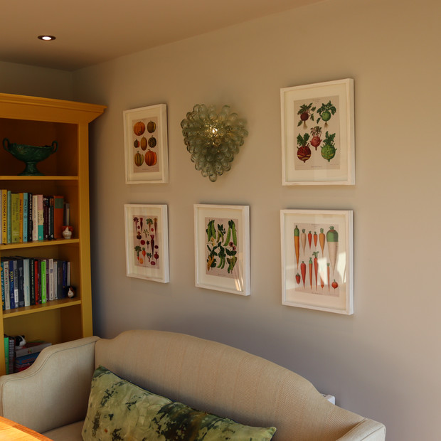 Completed house extension interior.