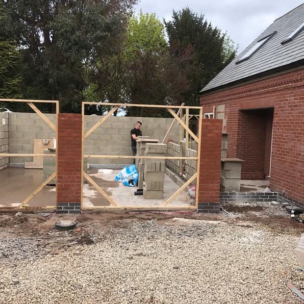 Extension in progress, Bagworth
