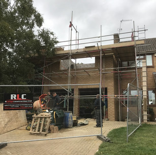 Scaffolding, extension in progress