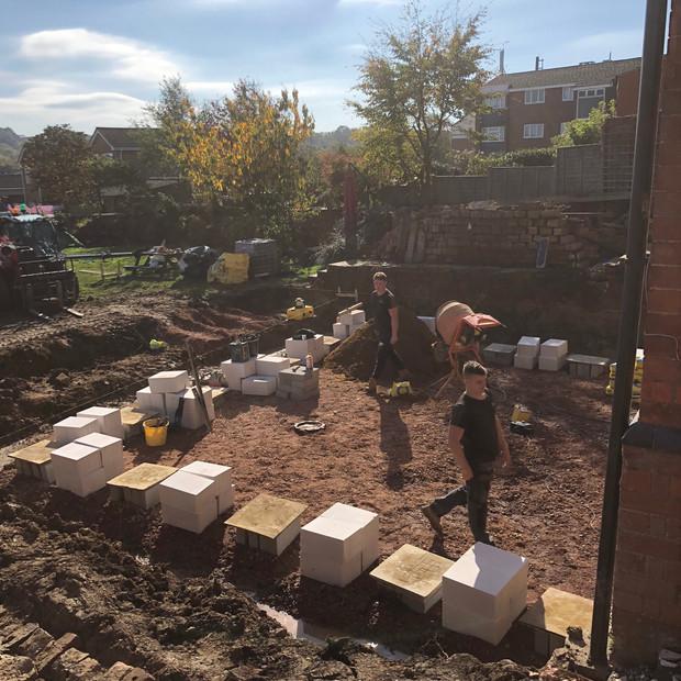 Building construction Badby Road