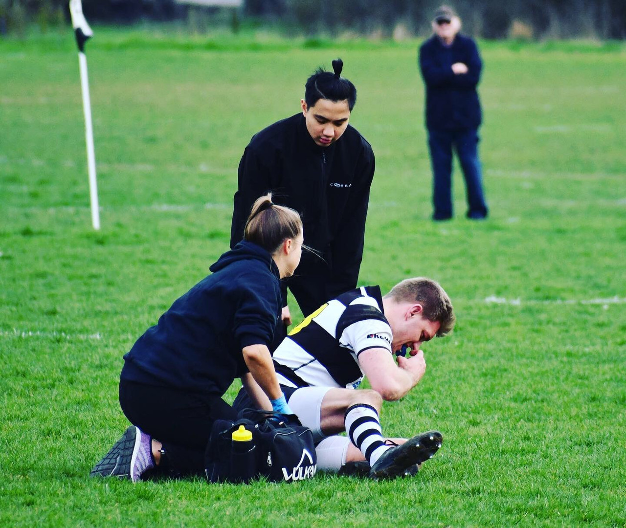 Emma Wardle Sports Therapy in action for Farnham Rugby