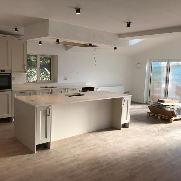Kitchen construction in progress