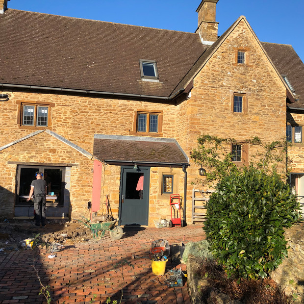 Working on a listed building extension in Badby.