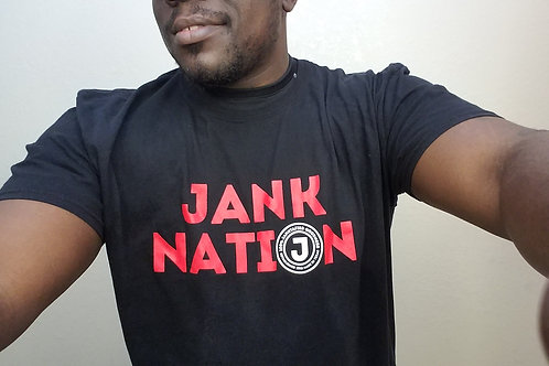 Jank Nation t-shirt (100% soft style cotton) Please include your size
