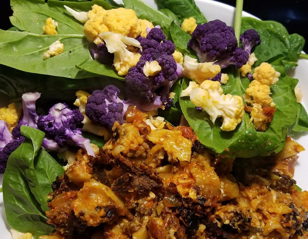 Cauliflower Jank & Spinach