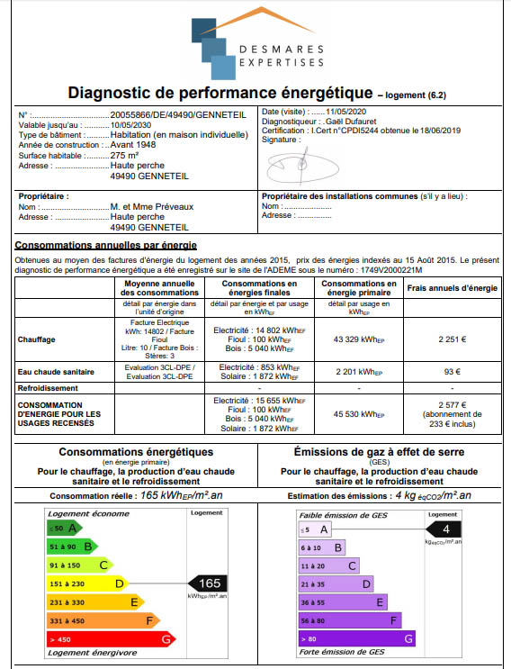 Diagnostic de performance énergétique 1
