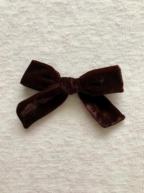 Velvet Bow Big // Chocolate