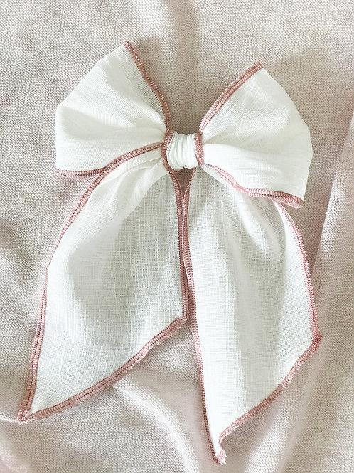Ceremony Collection // Lino Blanco Overlock Rosa