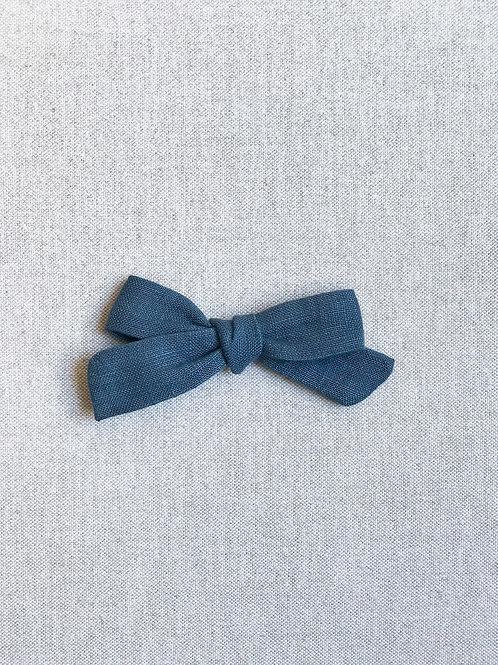 Mini Alexia // Lino Azul Denim