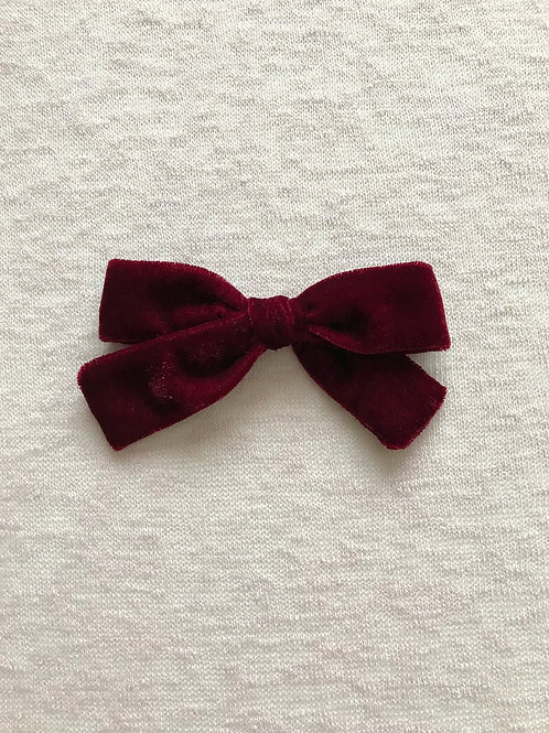 Velvet Bow Big // Granate