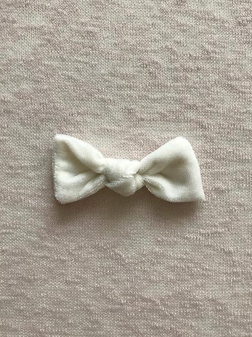 Velvet Bow Candy // Blanco