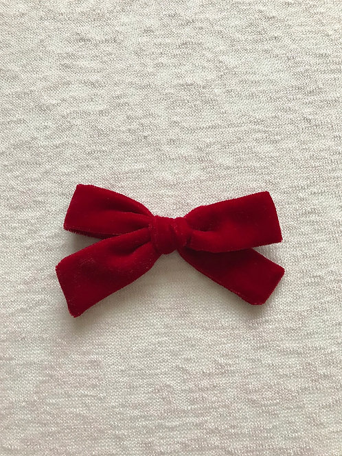 Velvet Bow Big // Rojo