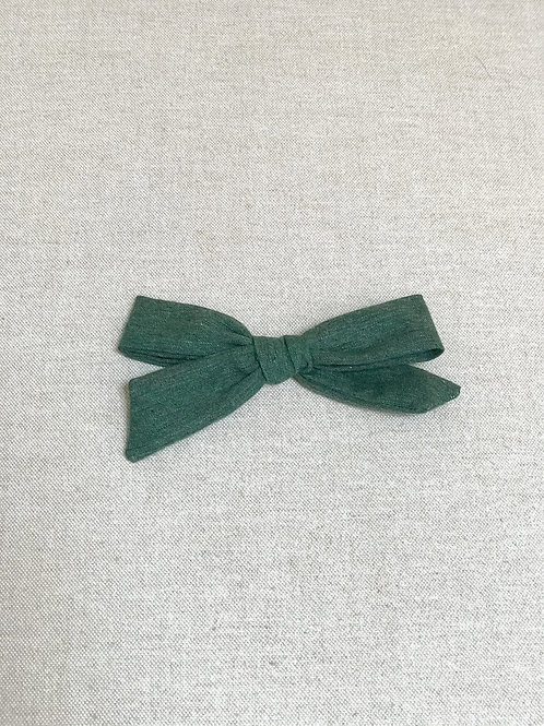 Alexia bow // Green Cozy