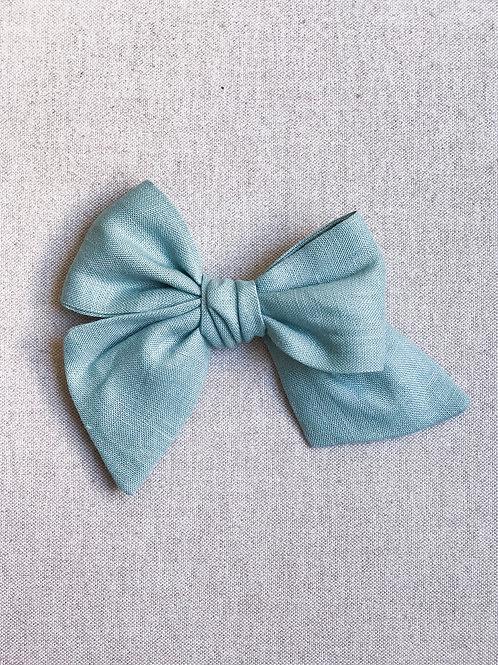 Sissi Bow // Lino Verde Turquesa