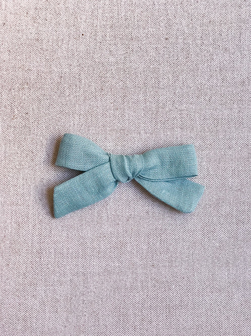 Mini Alexia // Lino Verde Turquesa