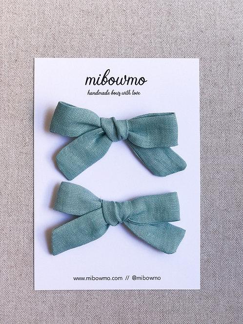 Pack Mini Alexia // Lino Verde Turquesa