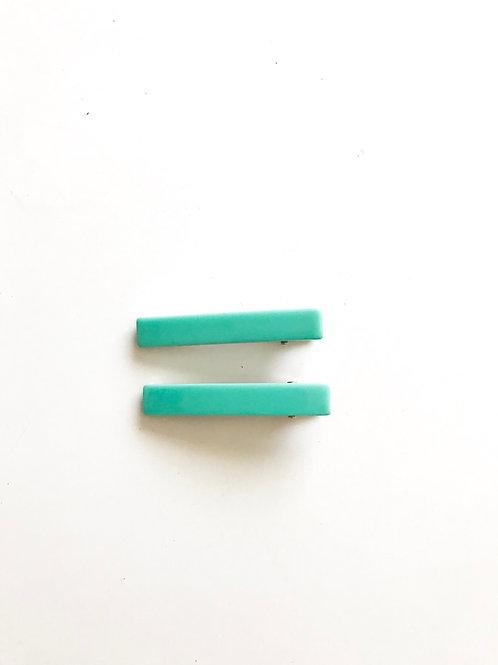 Pack 2 clips Verde Turquesa