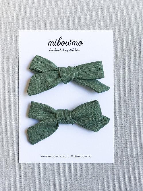 Pack Mini Alexia // Lino Verde Oliva