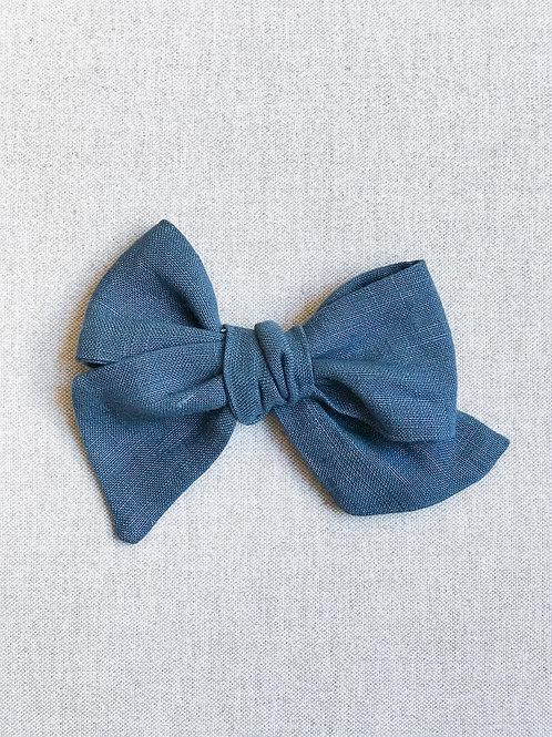 Sissi Bow // Lino Azul Denim