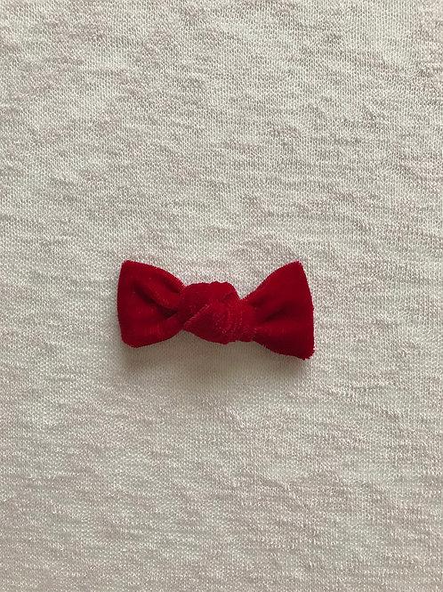 Velvet Bow Candy // Rojo