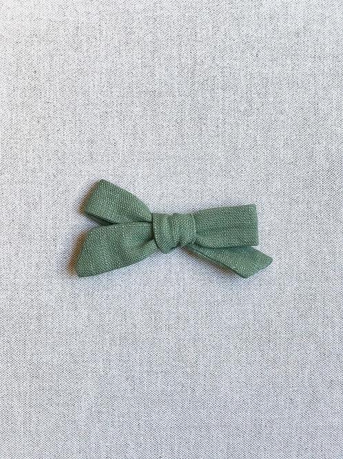 Mini Alexia // Lino Verde Oliva