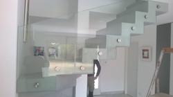 Descente escalier verre et Inox
