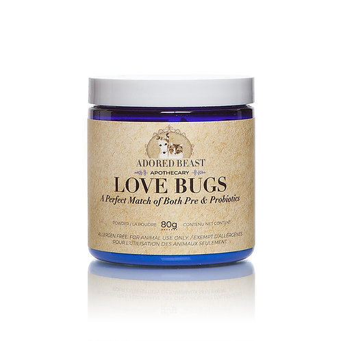 Pre- and Pro- biotic blend.  Love Bugs