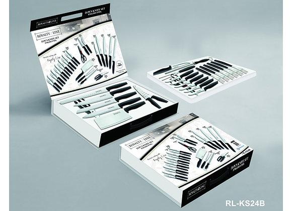 RL-KS24B 24 Piece Stainless Steel Knife Set