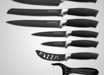 6 Pcs Non-stick Knife Set with a peeler