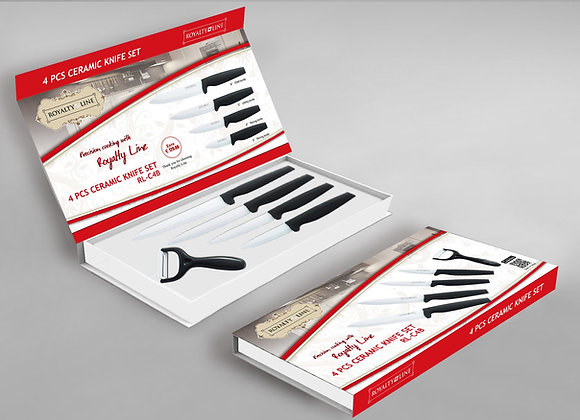 4 Pcs Ceramic Knife Set C4