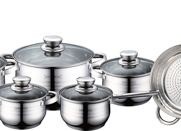 RL-1231 12 Pcs Stainless Steel Cookware Set