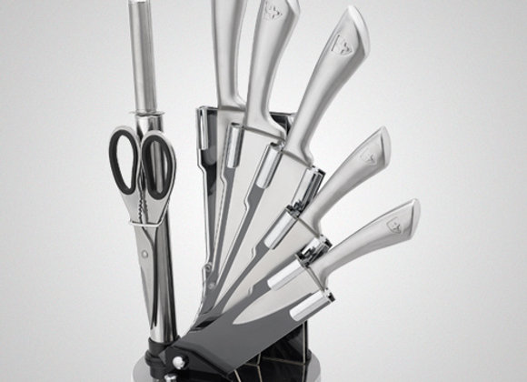 KSS600 8 Pcs Stainless Steel Knife Set with Rotating Stand