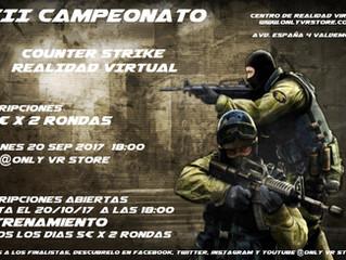 III CAMPEONATO COUNTER STRIKE REALIDAD VIRTUAL EN VALDEMORO