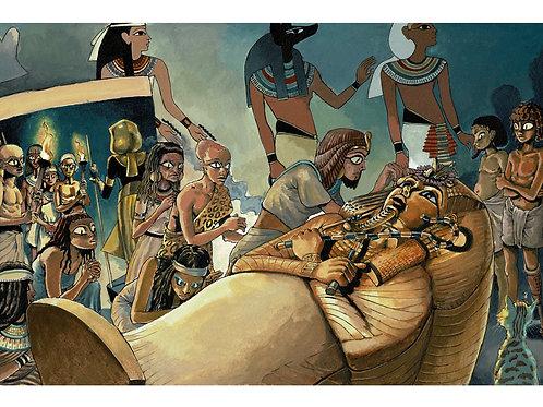 Vlad and Tutankhamun's Tomb Print